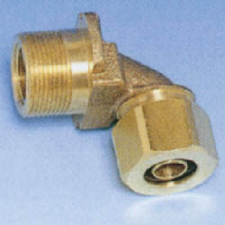 JFE Polybutene Pipe M Type Fitting (Mechanical) Elbow for water Supply (BOX L Type for wall)