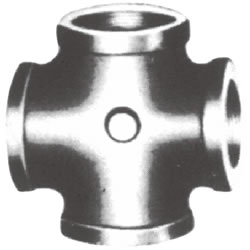 Screw-in PL Fitting, Cross with Collar