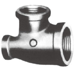 Screw-In PL Fitting, Rimmed 3-Direction Reducing Tee