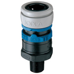 Doppler ES Series (for AIR) Sockets (Silicon-Free) Male Threaded Type
