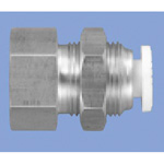 Junron One-Touch Fitting W Series (Spot Welding Equipment for Piping) Bulkhead Female Union
