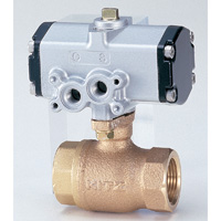 Ball valve with 10K pneumatic actuator made of bronze