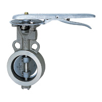 Stainless Steel UB (SCS14A/PTFE+SUS316) 10K Butterfly Valve (Lever)