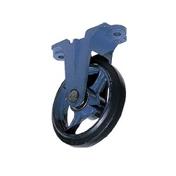 Molded Caster (Rubber Wheels), Fixed Type