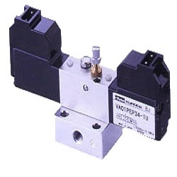 Small 4-port 3-position LM solenoid valve VA01/PEP34A