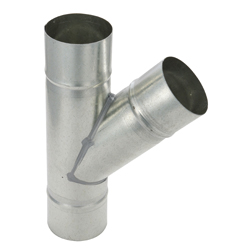 Spiral Duct Fitting 45° Y Pipe