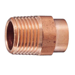 Copper Tube Fitting, Copper Tube Fitting for Hot Water Supply, Copper Tube External Threaded Adapter
