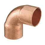 Copper Pipe Joint, for Hot Water Supply / Refrigerant Piping, Copper Pipe Elbow (90°)