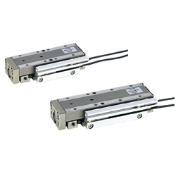 Pneumatically driven linear guides