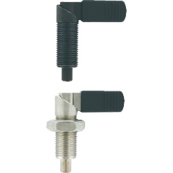 Indexing Plungers-Fine Thread Lever
