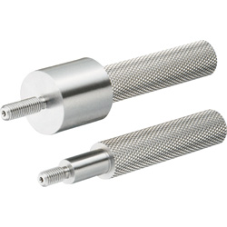 Slot Pins for Inspection Components - Straight Threaded with Step, One-Step Type