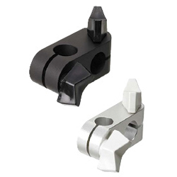 Super Compact Strut Clamps / Strut Clamps - Equal / Unequal Dia., Perpendicular Configuration with Wing Knobs