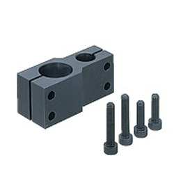 Strut Clamp, Unequal Dia., Parallel Holes, Pitch Selectable