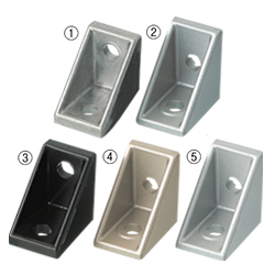 Tabbed Reversal Brackets -For 1 Slot - For 6 Series (Slot Width 8mm) Aluminum Frames