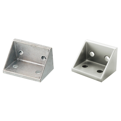 Tabbed Reversal Brackets - For 2 Slots - For 6 Series (Slot Width 8mm) Aluminum Frames