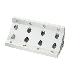 Extruded Brackets - For 4 Slots / Thin Brackets - For 8-45 Series (Slot Width 10mm) Aluminum Frames - For 200 Square