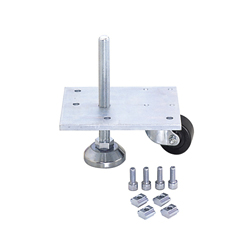 Leveling Mount & Plate with Caster Unit