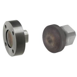 Floating Joints, Flange Mounting - Flat Dual Mountable Side Flange and Cylinder Connector with 4 Sided Wrench Flats - Sets