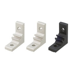 Extruded Brackets - For 1 Slot -For 5 Series (Slot Width 6mm) Aluminum Frames - Thick Brackets (Perpendicularly Machined)