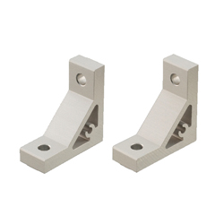 Extruded Brackets - For 1 Slot - For 6 Series (Slot Width 8mm) Aluminum Frames - Thick Brackets (Perpendicularly Machined)