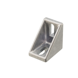 Tabbed Brackets - For 1 Slot - For 5 Series (Slot Width 6mm) Aluminum Frames - Nut Mounting Brackets