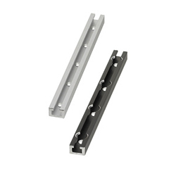 Rails for Switches and Sensors - L Configurable, Hole Position Configurable, Through Hole / Notched Hole (Shape A)