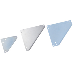 Sheet Metal Bracket For 5 Series (Slot Width 6mm) Aluminum Frames - Triangle-Shaped