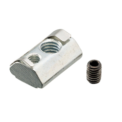 For 6 Series (Slot Width 8mm) - Post-Assembly Insertion - Lock Nuts with Leaf Springs