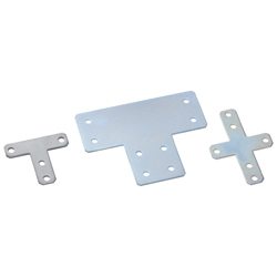 Sheet Metal Bracket For 8 Series (Slot Width 10mm) Aluminum Frames - T-Shaped/Cross-Shaped