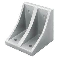 Tabbed Reversal Brackets - For 2 or More Slots - For 8-45 Series (Slot Width 10mm) Aluminum Frames