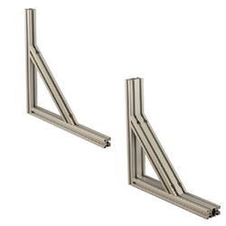 8 Series Aluminum Frames 40, 80mm Square - Brackets for Reinforcement