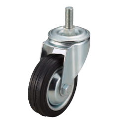 Screw-In Casters - Medium Load - Wheel Material: Rubber - Swivel Type
