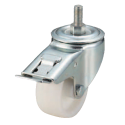 Screw-In Casters - Medium Load - Wheel Material: Polypropylene - Swivel Type + Stopper