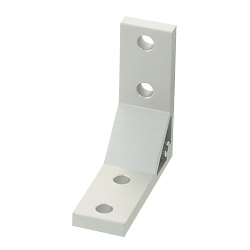 Extruded Brackets - For 1 Slot - For 8 Series (Slot Width 10mm) Aluminum Frames - Thick Brackets