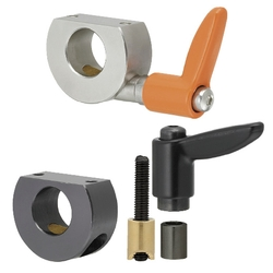 Shaft Collar Compact with Clamp Lever - Wedge - D Cut