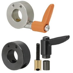 Shaft Collar Compact with Clamp Lever - Side Mount Hole