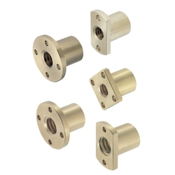 Nuts for Lead Screws-Round Flanged/Compact Flanged