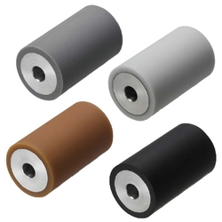 Urethane/Rubber Rollers - Straight, Crowned Type