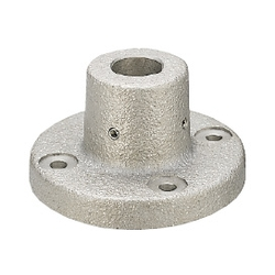 Device Stands - Round Flanged, Through Holes, with Dowel Holes (Bracket only) CSTF20