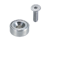 Magnet - Countersunk with Holder - Round Type