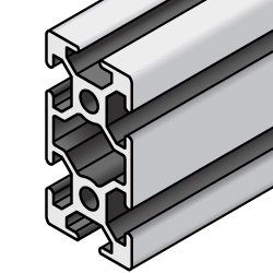 Aluminum Frame 5 Series/slot width 6/25x50mm, Parallel Surfacing