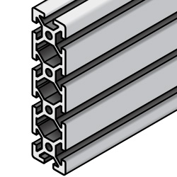 Aluminum Frame 5 Series/slot width 6/20x80mm, Parallel Surfacing