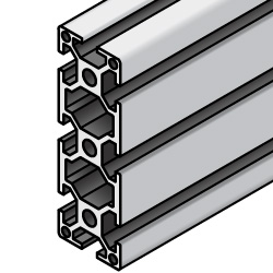 Aluminum Frame 6 Series/slot width 8/90x30mm, Parallel Surfacing