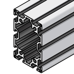 Aluminum Frame 6 Series/slot width 8/90x60mm, Parallel Surfacing