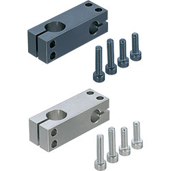 Strut Clamps - Unequal Dia., Perpendicular Configuration, Hole Pitch Selectable