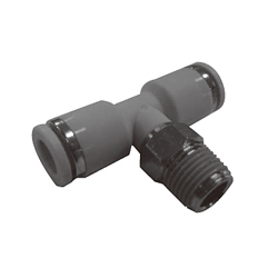 Push-in Fittings, WP Series, Male Branch Tee