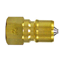 SP Coupler Type A, Brass, FKM Plug, Female-Thread