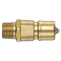 SP Coupler Type A, Brass, FKM Plug, Male-Thread