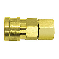 High Coupler Small Bore, Brass, FKM SF