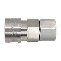High Coupler Small Bore, Stainless Steel, FKM SF